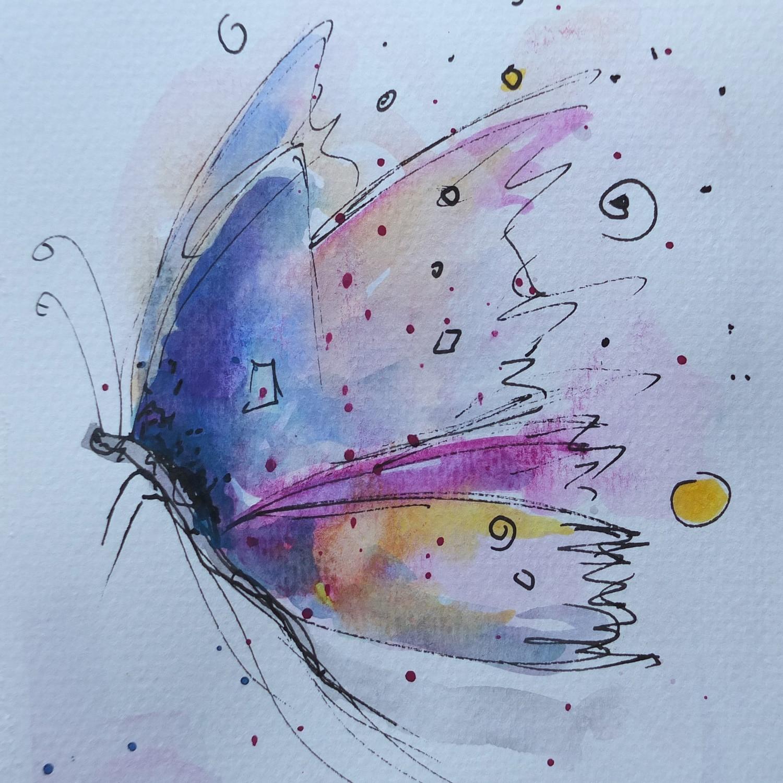 Der Schmetterling will fliegen
